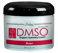 DMSO Low Odor Organic Hydrating Cream (Rose)